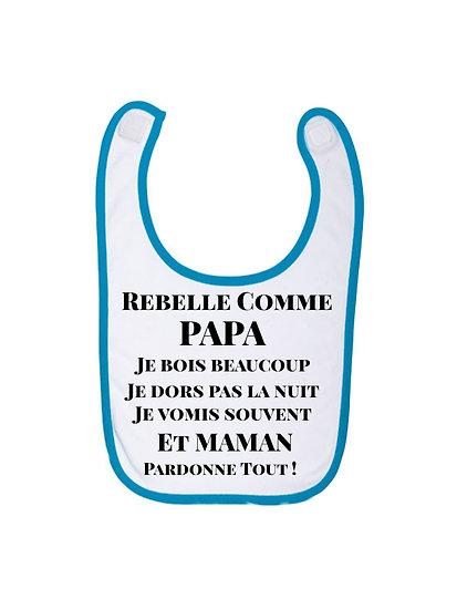 Bavette Baby / Rebelle / Marque ROKTOPODE de Roka La Poulpe avec ROKA CONCEPTS - BOUTIQUE CADEAUX INSOLITE- YVERDON-LES-BAINS