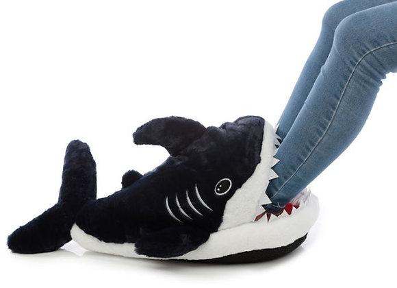 Pantoufles Chauffantes Peluchées - Requin  ROKA CONCEPTS - BOUTIQUE CADEAUX INSOLITE - YVERDON-LES-BAINS rokaconcepts.ch