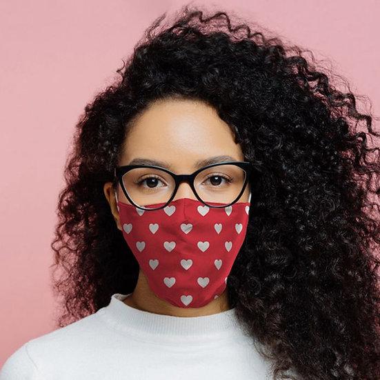 Masque Barrière - Coeurs / ROKA CONCEPTS - BOUTIQUE CADEAUX INSOLITE - YVERDON-LES-BAINS