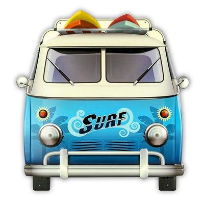 Plaque Métal / Bus VW  Cadeaux Insolite / Roka La Poulpe ROKA CONCEPTS Yverdon-les-Bains