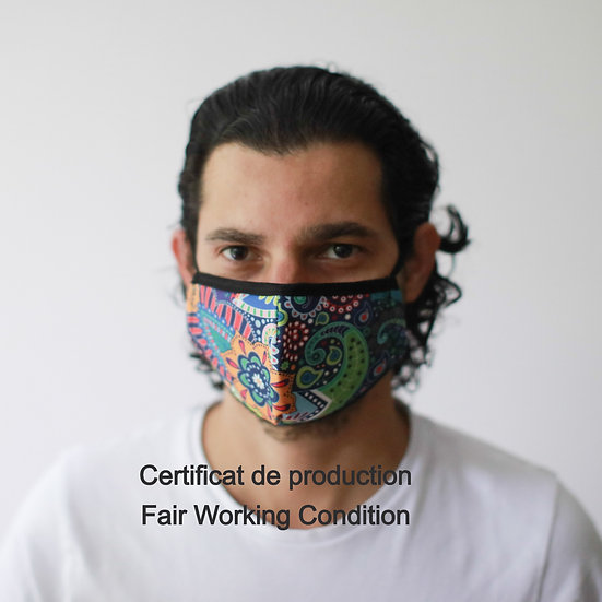 Masque Barrière - Psychédélique/ ROKA CONCEPTS - BOUTIQUE CADEAUX INSOLITE - YVERDON-LES-BAINS