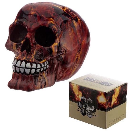 Crâne Skull Effet Flammes / ROKA CONCEPTS - BOUTIQUE CADEAUX INSOLITE - YVERDON-LES-BAINS