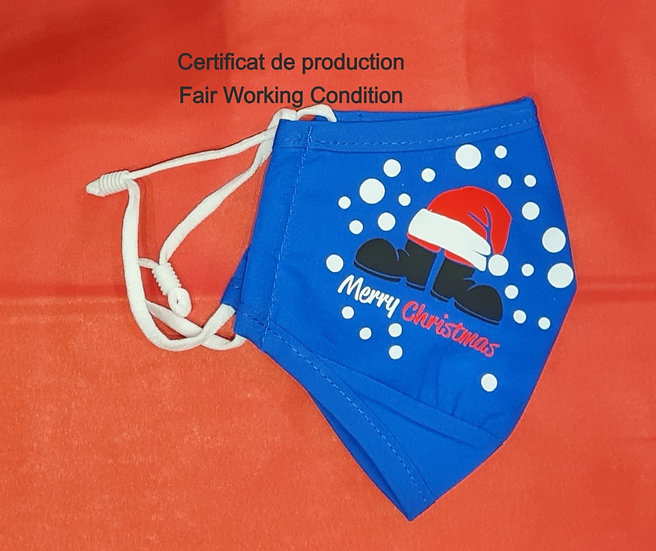 Masque Noël - Certificat production Fair Working Conditions - ROKA CONCEPTS - BOUTIQUE CADEAUX INSOLITE - YVERDON-LES-BAINS