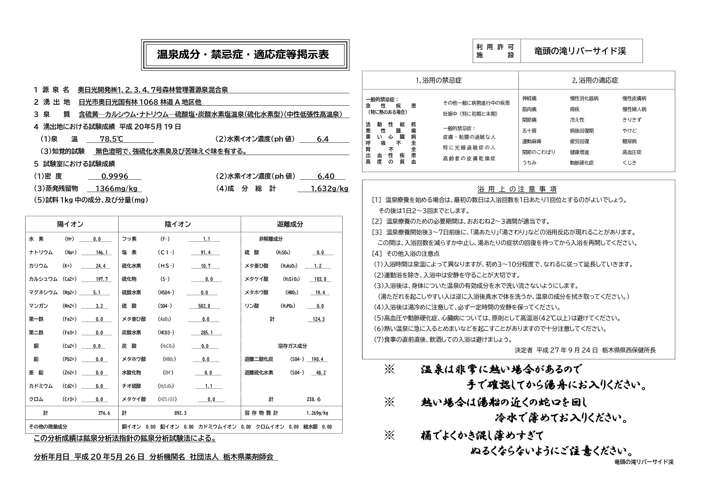 バージョン竜頭の滝リバーサイド渓 温泉成分・禁忌症・適応症等 一枚_page-0