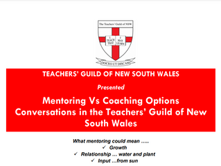 Mentoring Vs Coaching Options Conversations in the Teachers' Guild of New South Wales
