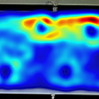 Heatmap showing the space use with respect to flow and plants