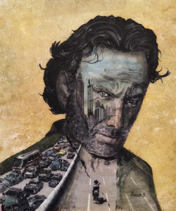 2_-_Rick_Grimes_-_The_Walking_Dead._Acrylique,_carton_entoilé,_55x46cm