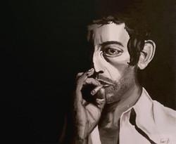 1_-_Lucien_Ginsburg_(Serge_Gainsbourg)_-_Gainsbourg,_vie_héroïque_-_Acrylique,_toile_coton,_55x46cm