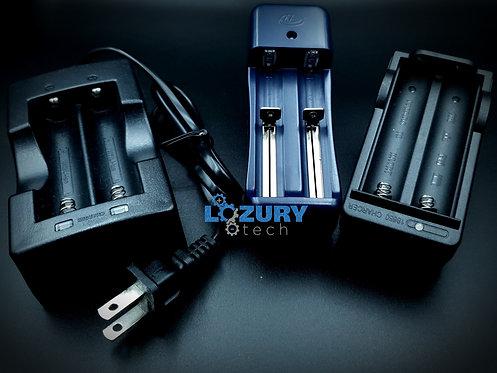 Cargador de Baterías 18650 3.7V 2 Puertos (3 opciones)