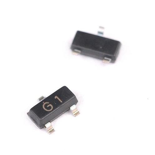 Transistor NPN G1 de Superficie 2N5551