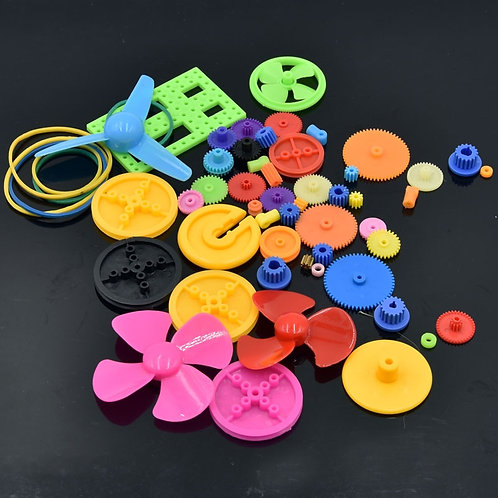 Kit de Engranajes y Helices de Plastico (55 pcs)