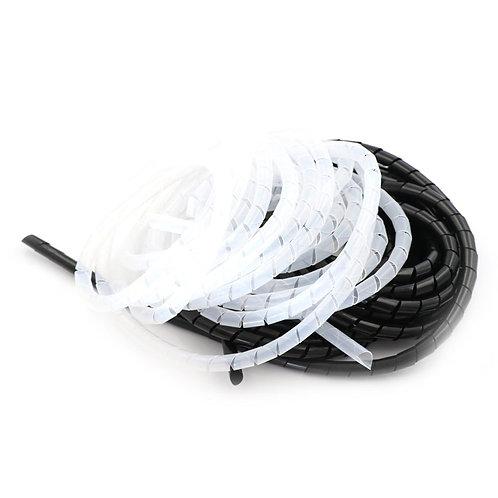 Cobertor para Cables Espiral (10M) Transparente / Negro