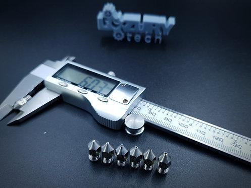 Boquilla de Acero Inoxidable para Extrusor de Impresora 3D (6mm)