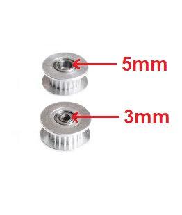 Polea Pasiva 2GT 20 Dientes (3mm / 5mm)