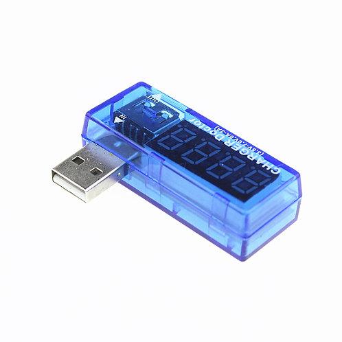 USB CON VOLTIMETRO Y AMPERIMETRO