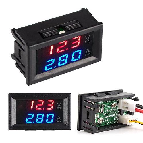 Voltímetro y Amperimetro Digital 0V - 99V