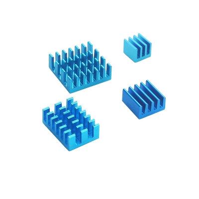 Kit Disipador de Aluminio para Raspberry Pi 4 (4pcs)