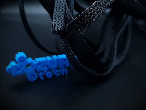 Cobertor de Cable de Nylon Negro (1M)