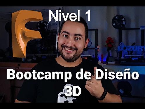 Bootcamp de Diseño 3D en Fusion 360 Nivel 1