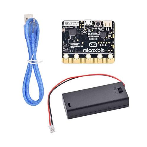 Kit de Micro Bit + Porta Batería + Cable USB