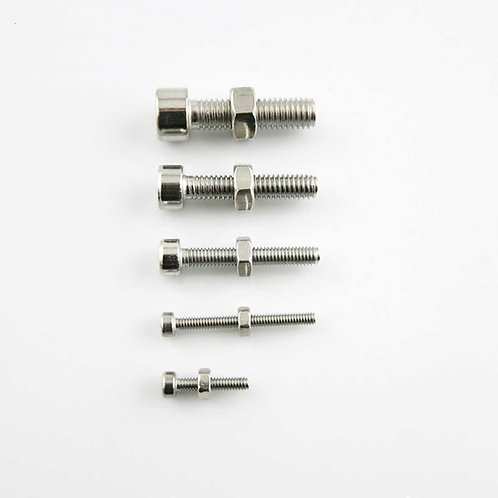 Tornillos + Tuerca M2 / M3 / M4 / M5 hexagonal de acero inoxidable
