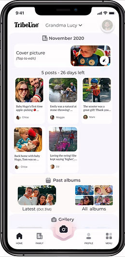 An app for the family to share their memories