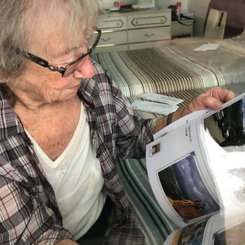 Grandma receiving news from her family
