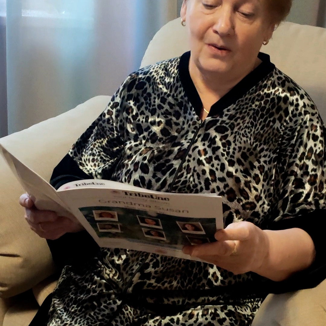 Gift to grandmother: monthly family news