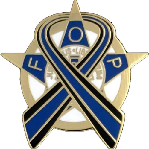 FOP BLUE RIBBON FOUNDATION PIN