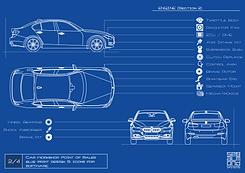 Blue Print Car Workshop Engine Section 2