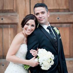 wedding makeup white flowers