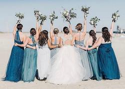 wedding party makeup behind