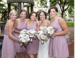 bride bridal party makeup