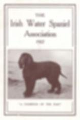 1927 IrishWater Spaniel Year Book