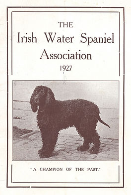 1927 IrishWater Spaniel Year Book
