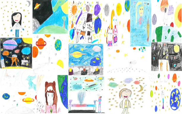 Space Scientists drawn at our UCD Primary School workshops