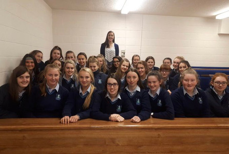 Maeve speaks at St. Mary's Charleville