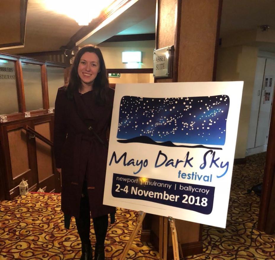 Lána speaks at Mayo Dark Sky Festival 2018