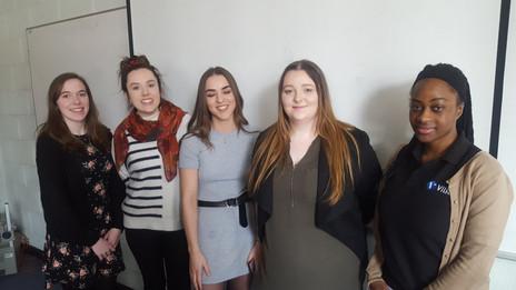 Rachel (far left) at Women in STEM day, TUD Tallaght