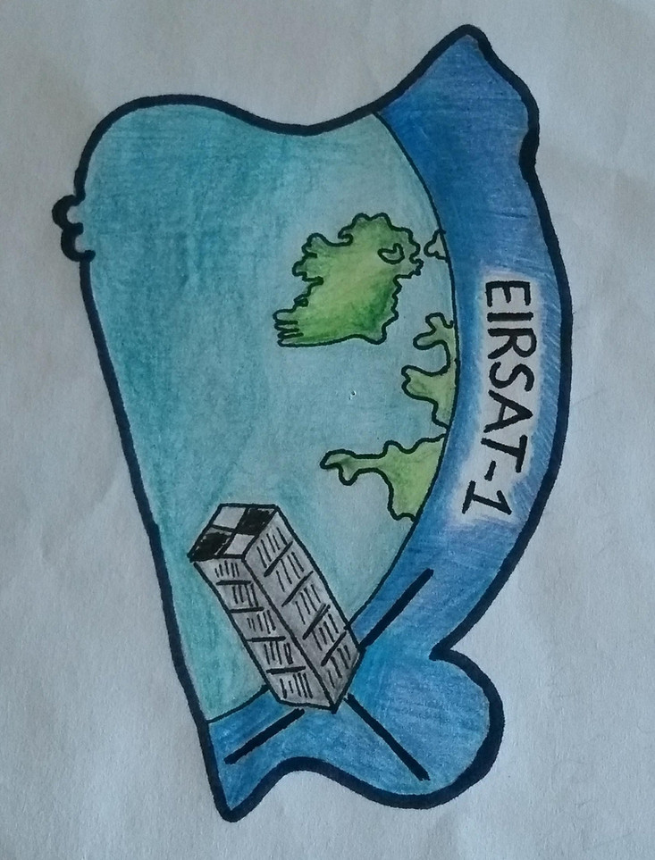 Our winning Mission Patch from Adrian Sheshkovos, Laytown Co. Meath