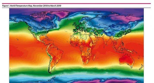 Ученые составили карту распространения коронавируса в зависимости от погоды