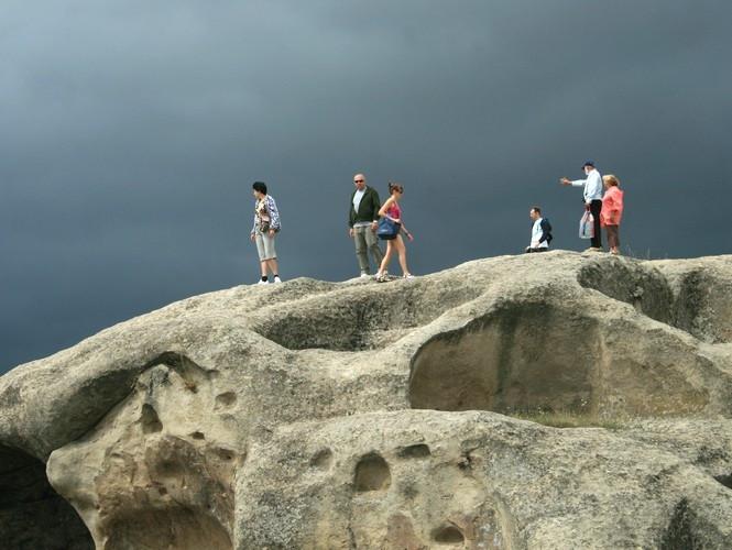 Туристы в Уплисцихе