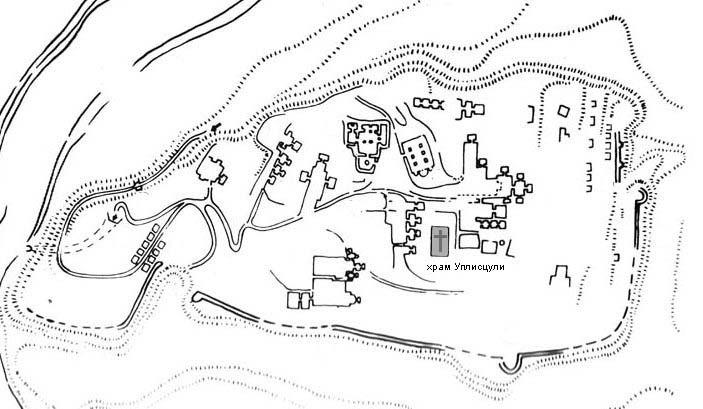 Карта Уплисцихе