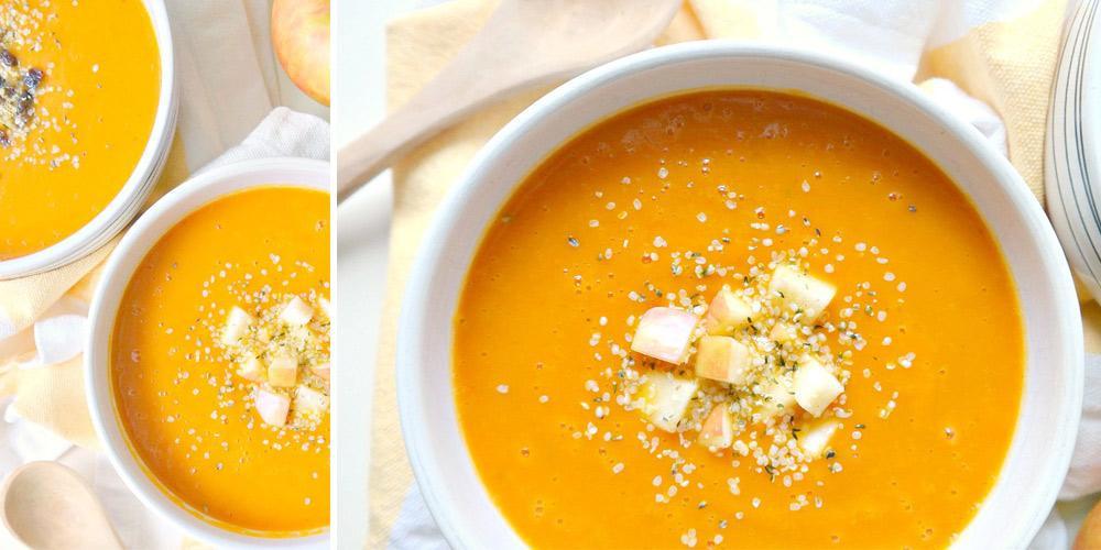 soupe, soup, carotte, carott, automne, autumn, fall, warm food, comfort food, vegan, gluten free, health, nutrition,