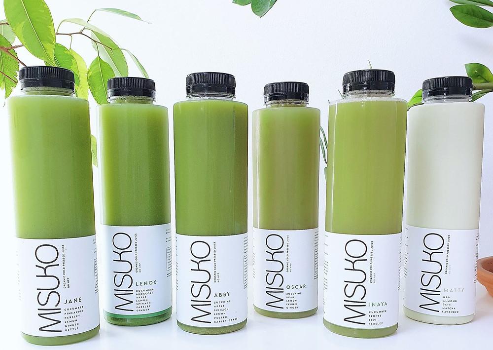 Cure détox de jus vert Misuko