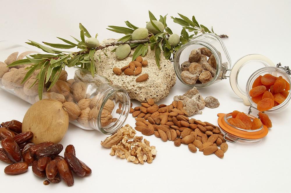 fruits secs, séchés et deshydratés