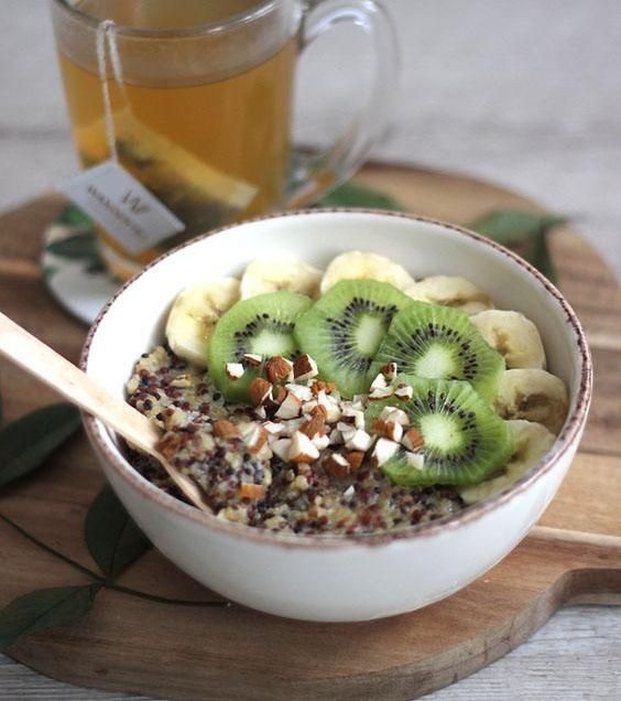 kiwi, banane, porridge, santé, sain, pudding, cru, végétal, detox, misuko