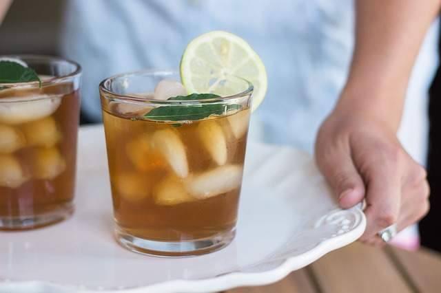 thé, glacé, été, frais, sain, santé, citron, plante, herbe, glaçon, détox, soleil, détente, misuko, jus