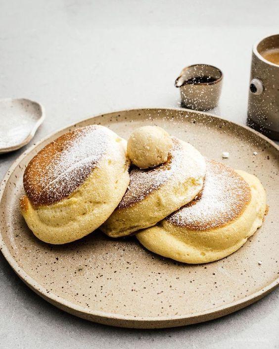 fluffy, pancakes, breakfast, brunch, summer, été, recette, gourmande, comfort food, food,