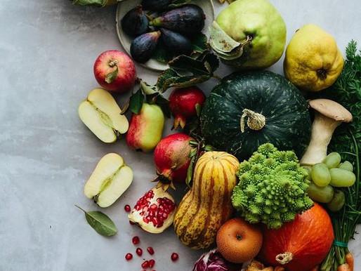 La sélection de fruits et de légumes d'octobre.